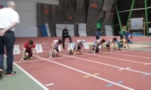 Matthieu au départ de la finale du 50m