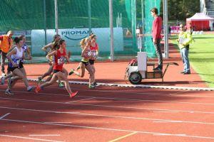 Laura au départ du 1500m