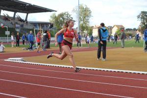 Justine à l'assaut de son 400m