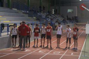 Les minimes garçons au départ du 1000m