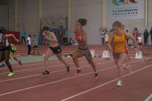 Anathée en finale du 60m
