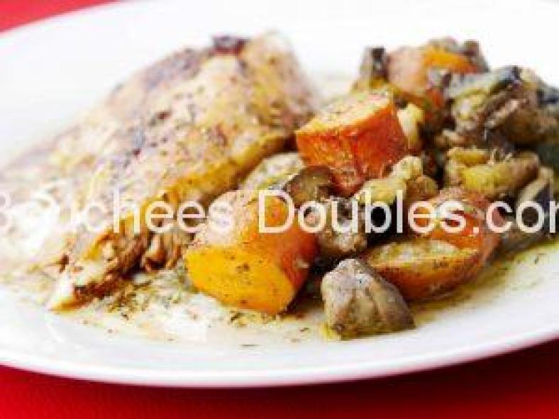 Poulet aux légumes et agrumes