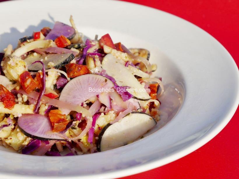 Cliquez ici et découvrez cette idée recette de cuisine alcaline : unemarinade radis noir et légumes au chorizo