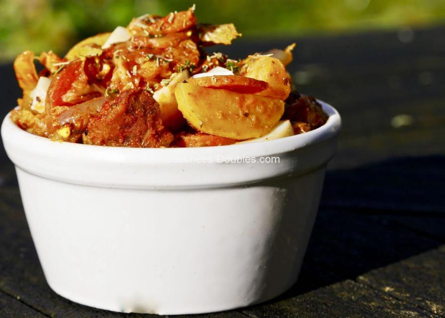 Cliquez ici et découvrez cette idée recette de cuisine alcaline : un mijoté de légumes, oeufs, viande et chorizo