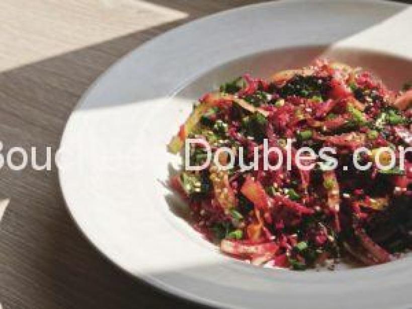 Une idée recette de cuisine alcaline de marinade de crudités