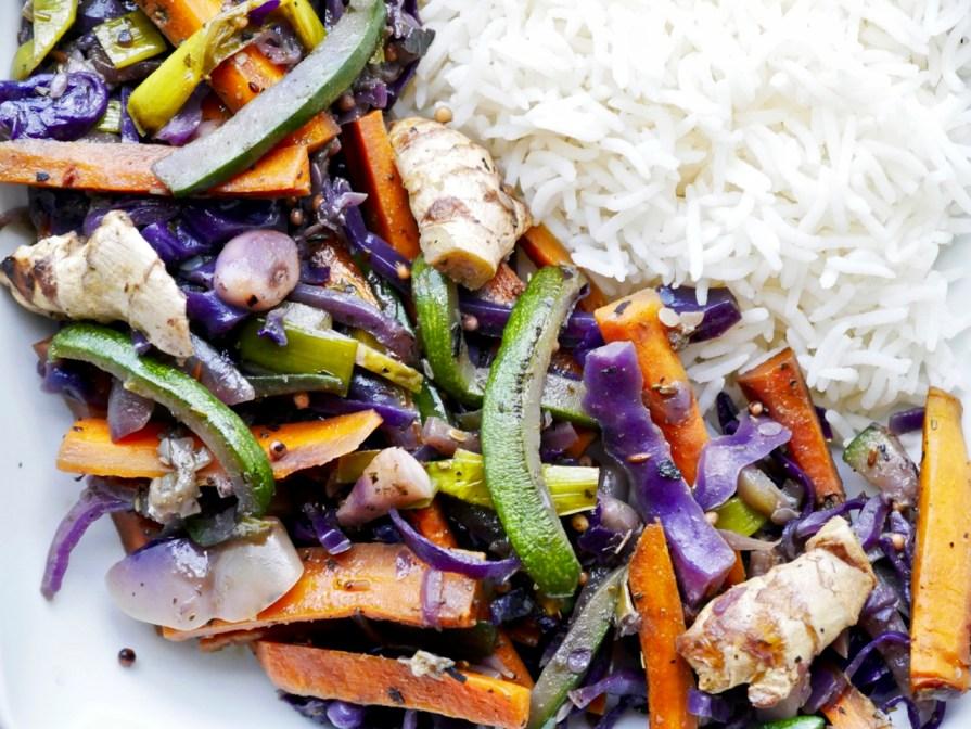 Cuisine alcaline - wok saveurs thaï aux 5 légumes