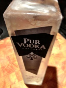Pur vodka bien glacée