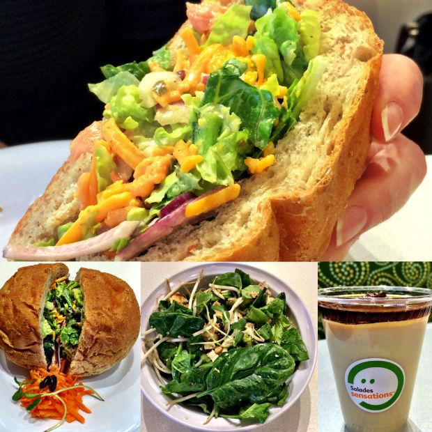 Salades, Sandwich, dessert