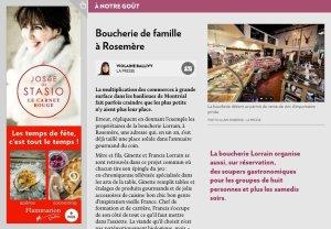 Boucherie de famille à Rosemère