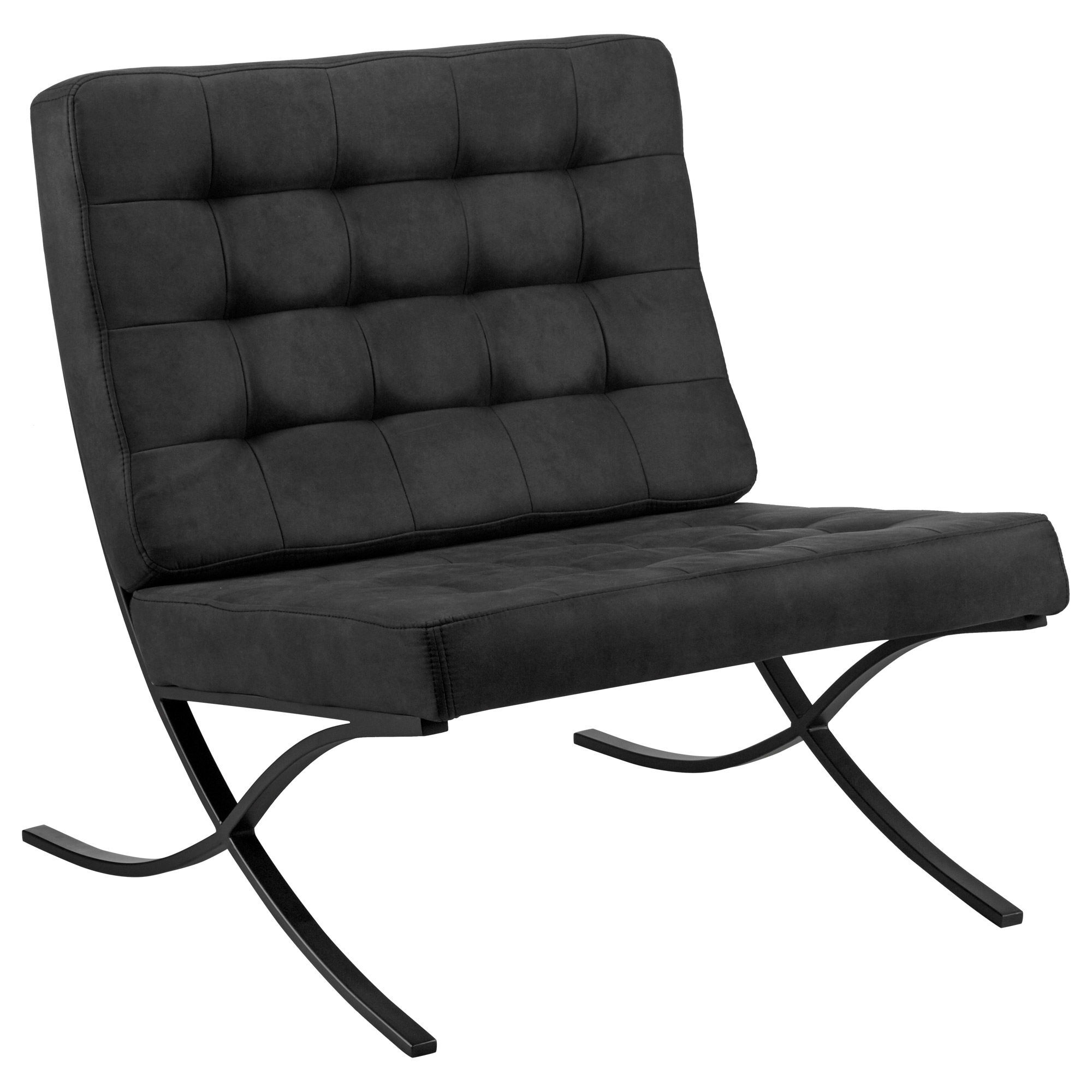 Barcelona Lounge Chair Barcelona Lounge Chair With Metal Legs Bouclair