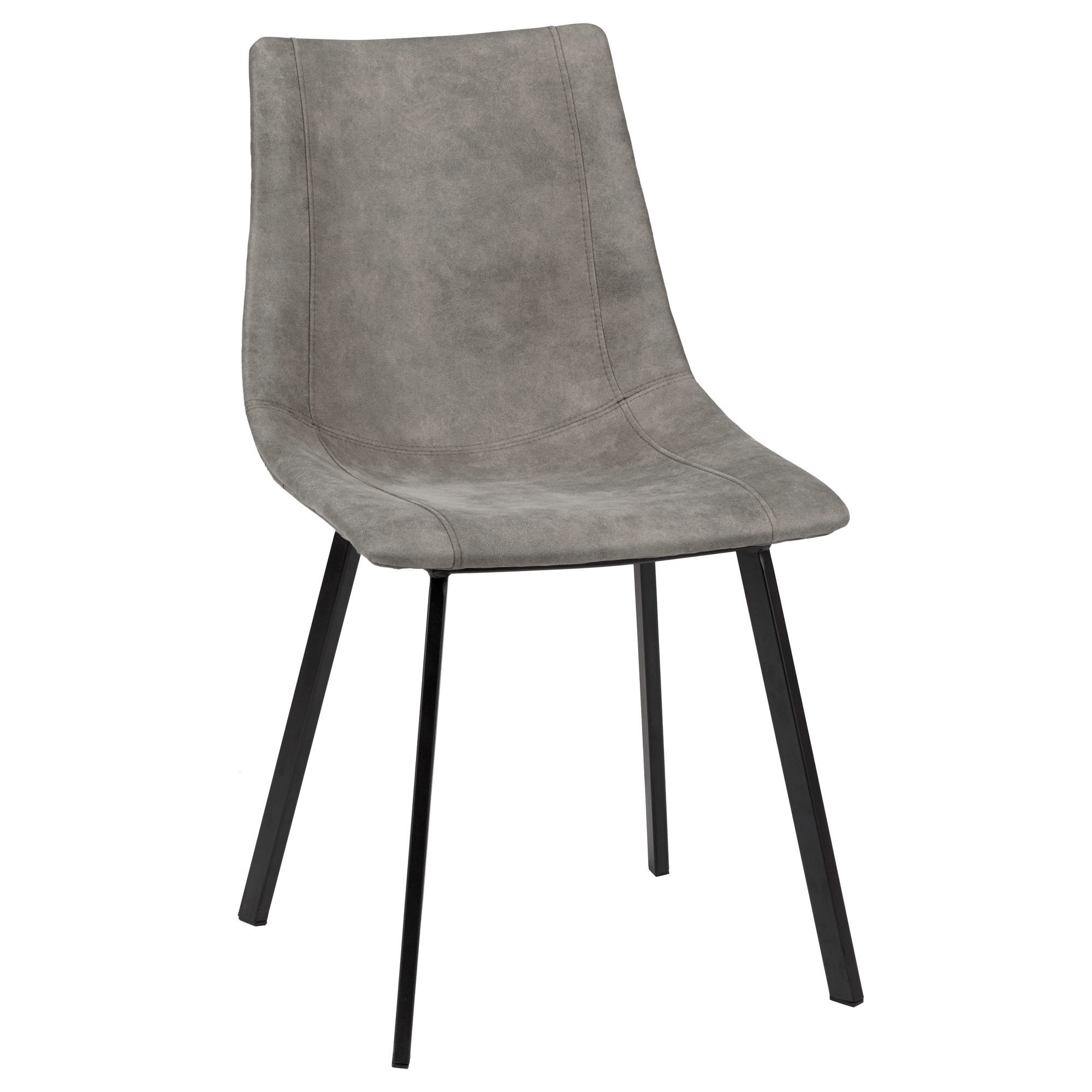 Metal And Leather Chair Textured Faux Leather And Metal Dining Chair Bouclair