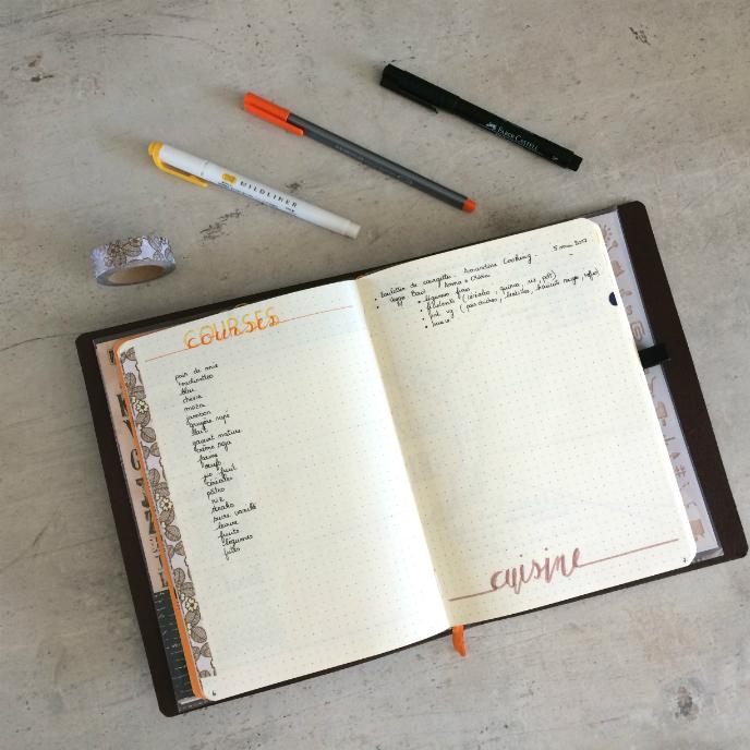 Transfert Bullet Journal cuisine