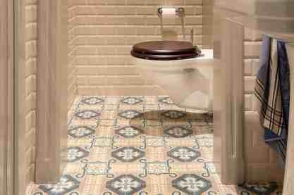 WC met retro tegels 2