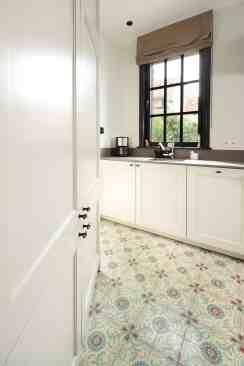 Keukenvloer met retro tegels