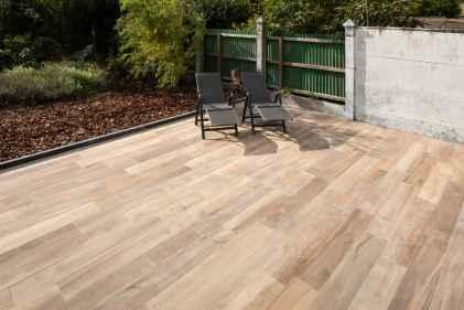 Terras met keramisch parket tegels