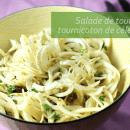 Recette de salade de tournicotis tournicoton de céleri-rave | BouffeTIME!