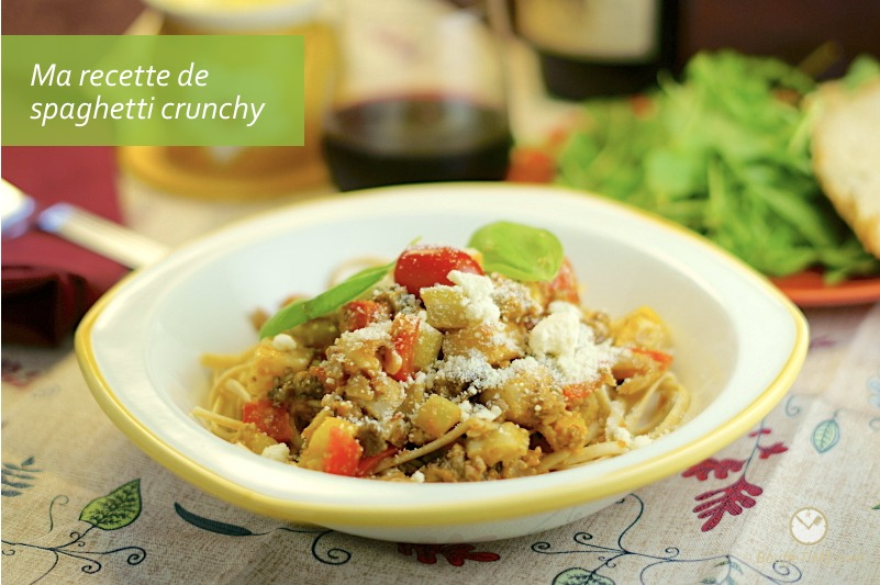 Ma recette de spaghetti crunchy | BouffeTIME!