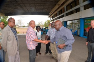 President Momis with Sam Akoitai