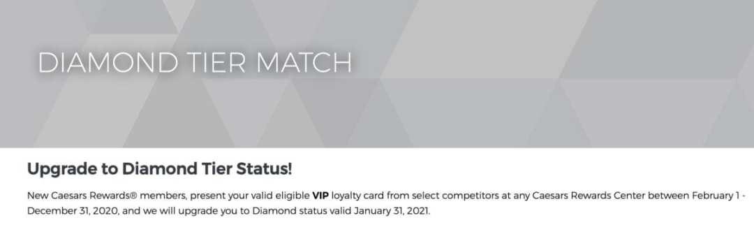 Caesars Diamond Status Match (totalrewards)