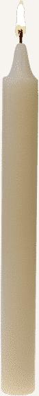 Bougie couleur ivoire la communion par bougie vip