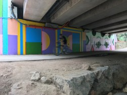 9th Street Underpass Mural by Michelle Miller and Madeleine Tonzi