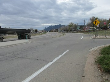 Broadway Ave. in North Boulder