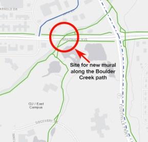 Map of mural site