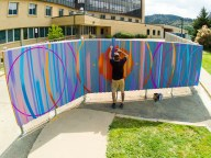 Mural by AJ Davis, Photo Credit: Lauren Click, Office of Arts + Culture