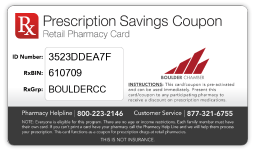 Prescription card