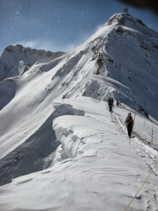 hiking snow