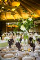 Green and Brown Wedding Reception