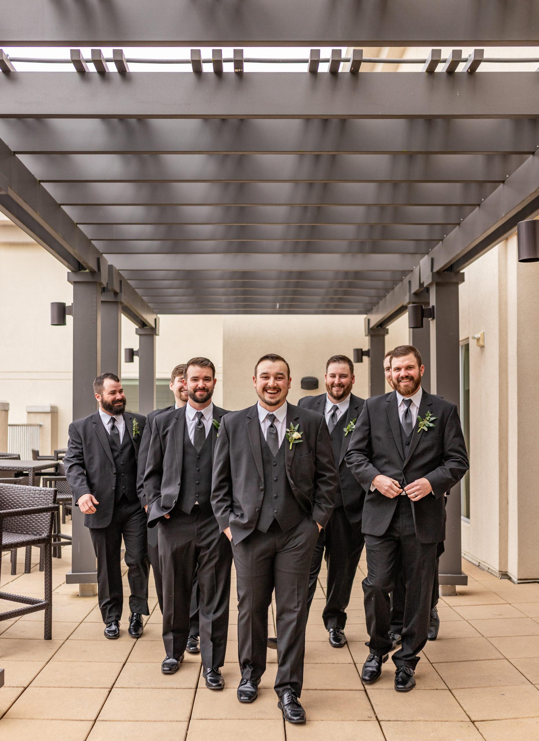groomsmen drury plaza hotel terrace