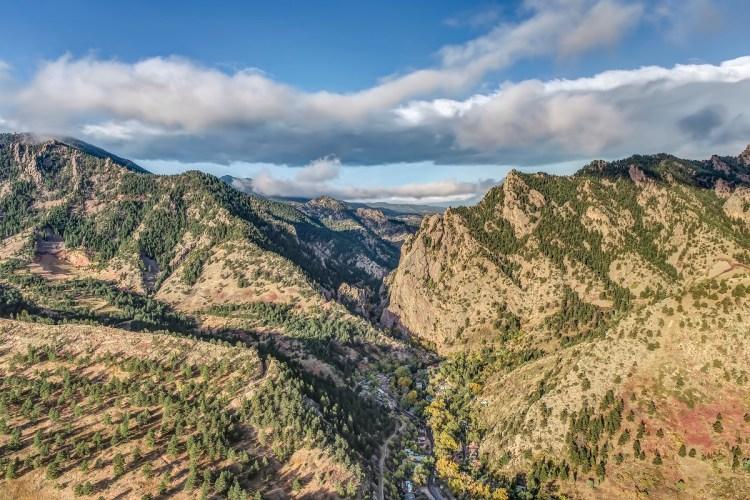 Eldorado Canyon State Park Aerial Photo