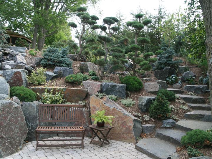 Large Round Rocks Landscaping