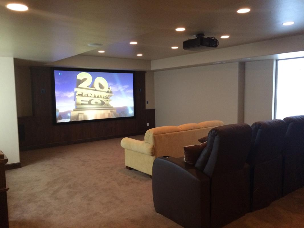 hight resolution of basement projection theater