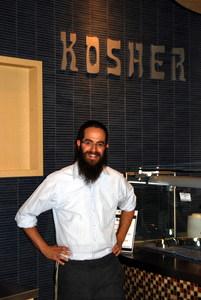 Rabbi Yisroel Wilhelm at the Kosher station at CU Boulder's C4C