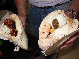 Falafel, Pita, and Humus
