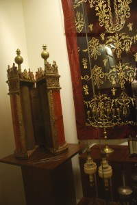 Exhibit inside Greek Jewish Museum