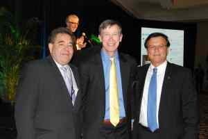 l-r: Russell Robinson, JNF CEO, Governor John Hickenlooper, and