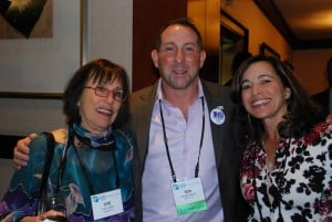 Incoming Mountain States Regional President Ron Werner (c) with Boulder Co-Chairs Evie Cohen (l) and Vicky Kelman (r).