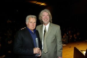 Ron Bostwick (right) with Martin Sheen at the Boulder International Film Festival