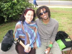 The choreographer and a dancer from MalPaso dance company
