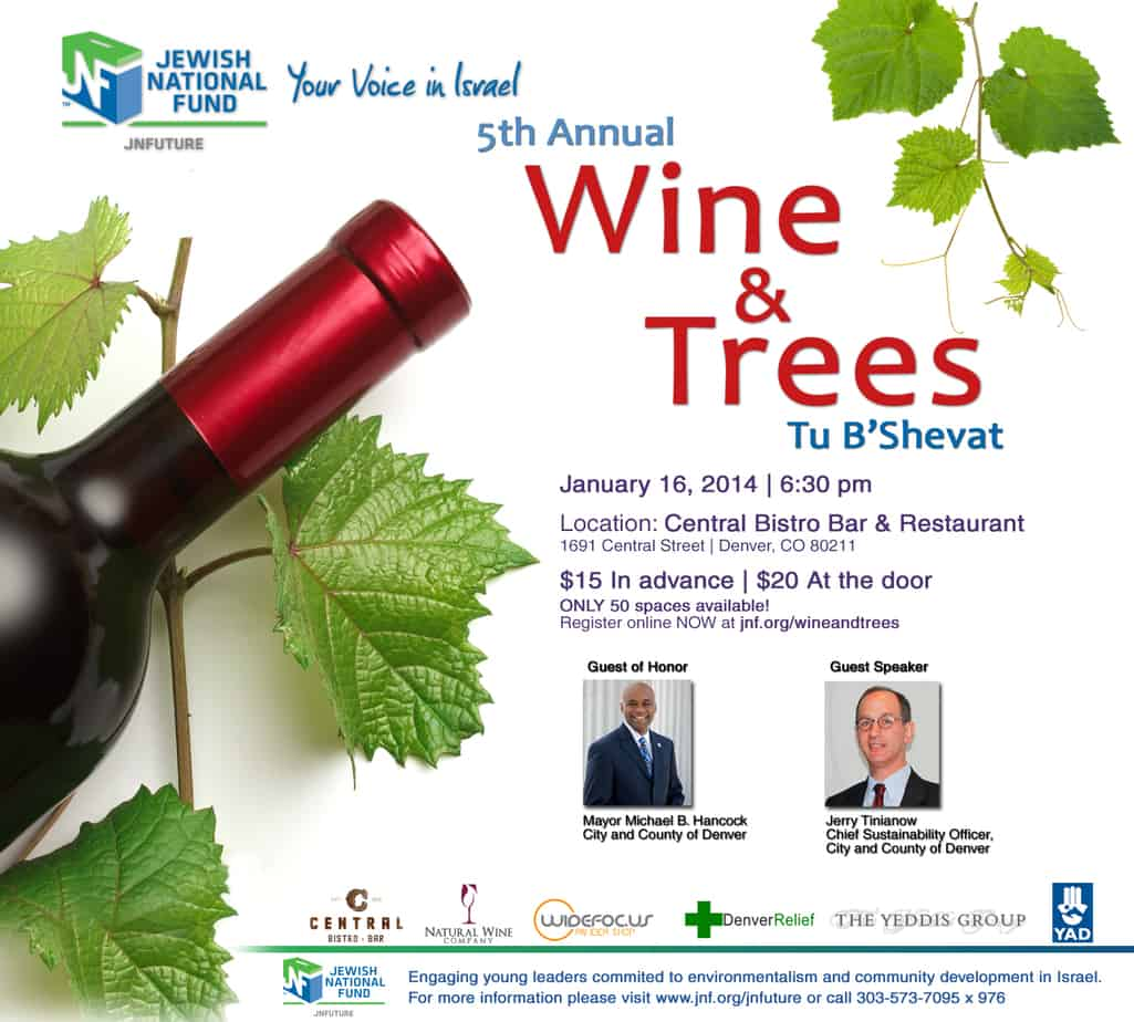 """Denver Mayor To Attend JNFuture """"Wine And Trees"""" Party"""
