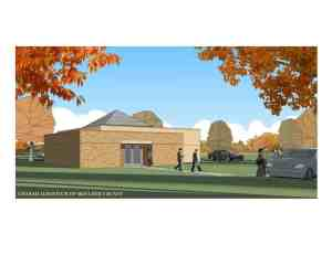 Artist's conception of new Chabad Learning Center
