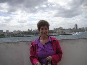 Susan Litt at the old forts guarding Havana Harbor