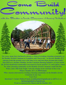 Come build community this Sunday, June 14th with the Boulder Jewish Commons Housing Initiative.