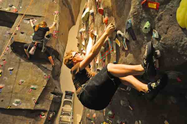 Teens Spring Break Indoor Rock Climbing Fun Boulder