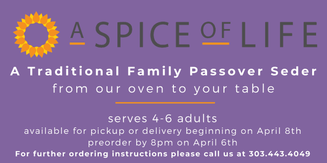 Order a Complete Seder for 4 from A Spice of Life