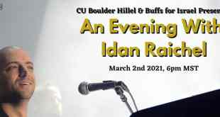 CU Boulder Hillel Hosts An Evening with Idan Raichel