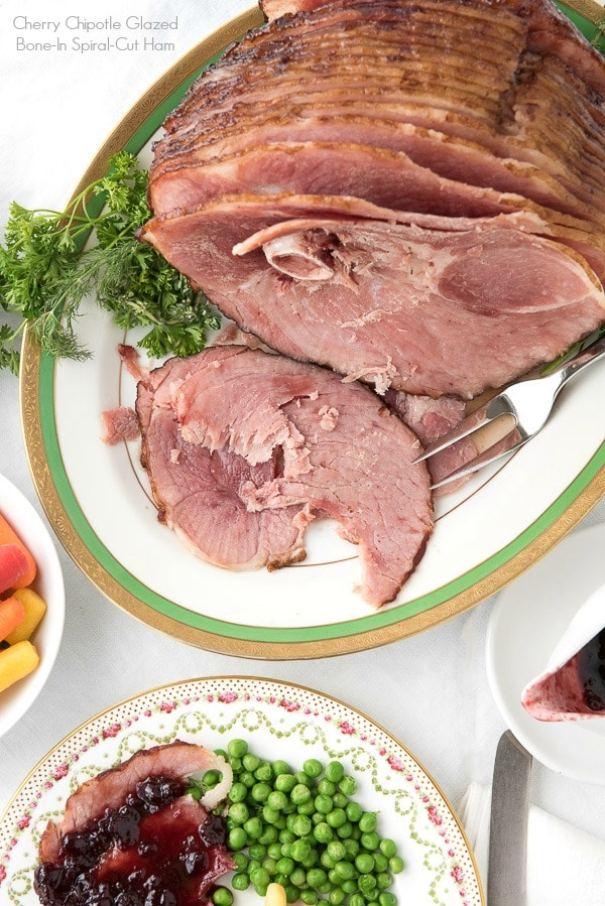 Cherry Chipotle Glazed Bone-In Spiral-Cut Ham Recipe BoulderLocavore.com